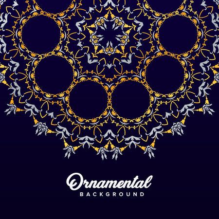 Arabic ornament background baroque in Victorian style. Element for design 向量圖像