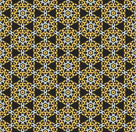 Dekorative Symmetrien des nahtlosen Musters, Verzierungsmuster-Vektorillustration