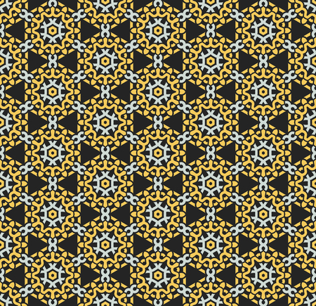 Seamless pattern decorative symmetries, ornament pattern vector illustration