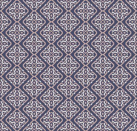 Simmetrie decorative del modello senza cuciture, illustrazione di vettore del modello dell'ornamento