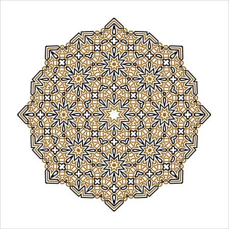 Mandala Ornament background. Round decorative elements. Illustration