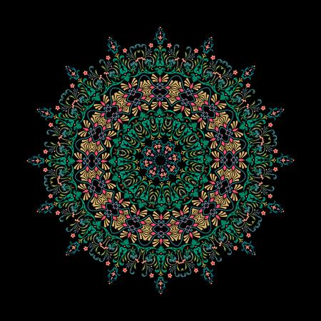 mandala Ornament background. Round Vintage decorative elements.