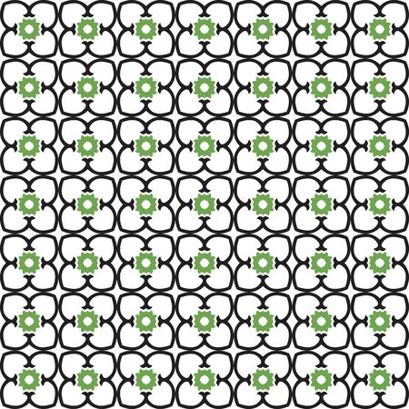 Abstract seamless ornament pattern. Vector illustration. Ilustrace