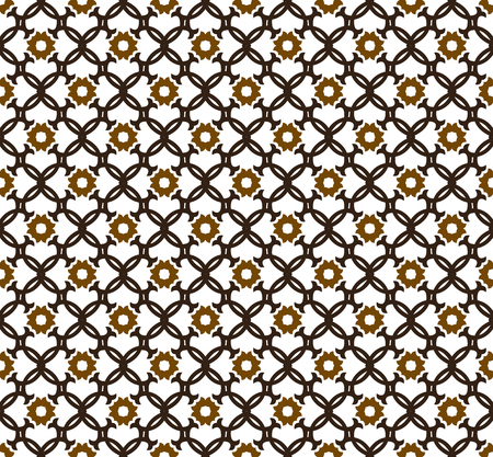 Abstract seamless ornament pattern. Vector illustration. Çizim