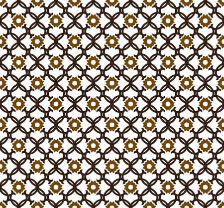 Abstract seamless ornament pattern. Vector illustration. Illustration