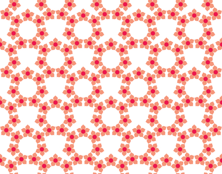 Floral Tiles Seamless Vector Pattern. flower Geometric texture pattern background. Illustration