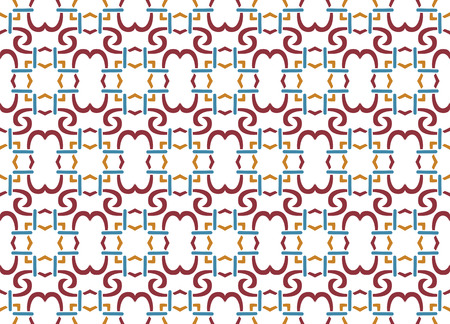 Abstract seamless ornament pattern. Vector illustration. Ilustração