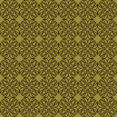 Seamless linear pattern with crossing curved lines and scrolls ornament background.