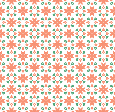 Floral Tiles Seamless Vector Pattern.flower Geometric texture pattern background. Illustration