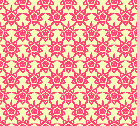 Vector floral seamless pattern, vector repeating texture background Ilustração