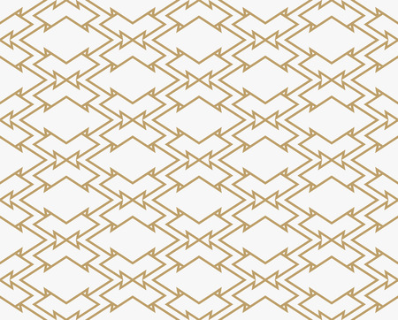Geometric line ornament seamless pattern, modern minimalist style pattern background Illustration