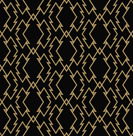 Geometric line ornament seamless pattern, modern minimalist style pattern background Illustration