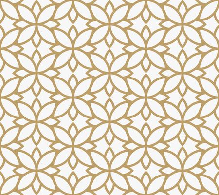 geometric floral leaf ornament line seamless pattern, modern minimalist style pattern background Illustration