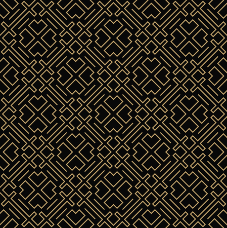Geometric  line ornament seamless pattern, modern minimalist style pattern background Ilustrace