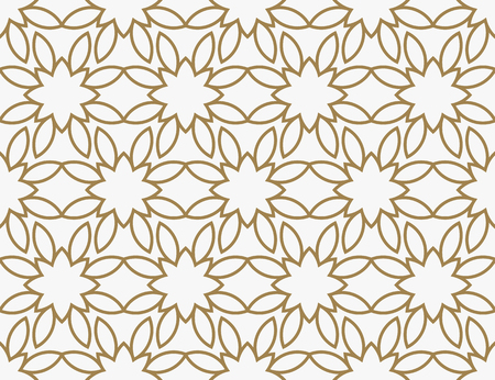 Modern Luxury geometrical ornaments with lines Illusztráció