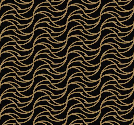 Ornements géométriques de luxe moderne avec fond de lignes sans soudure