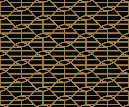 Vector seamless pattern. Modern stylish texture. Repeating abstract background. Weaved wavy geometric grid.