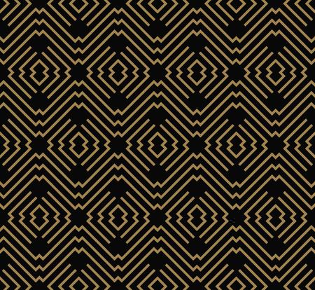 motivo geometrico senza soluzione di continuità dalla linea a strisce. Sfondo vettoriale senza soluzione di continuità. Texture nera.
