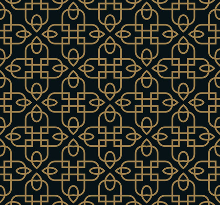 Seamless pattern. Elegant linear ornament. Geometric stylish background. Vector repeating texture
