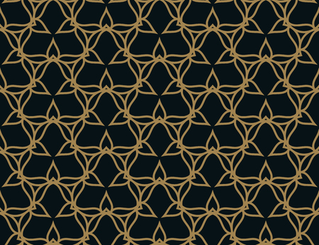Seamless pattern. Elegant linear ornament. Geometric stylish background. Vector repeating texture Stock fotó - 101114309