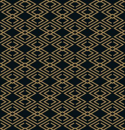 Seamless pattern. Elegant linear ornament. Geometric stylish background. Vector repeating texture 写真素材 - 101114344