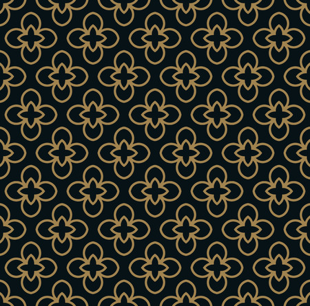 Intersecting curved elegant fine lines and scrolls forming abstract floral ornament. Seamless pattern for background, wallpaper, textile printing, packaging, wrapper, etc. Çizim
