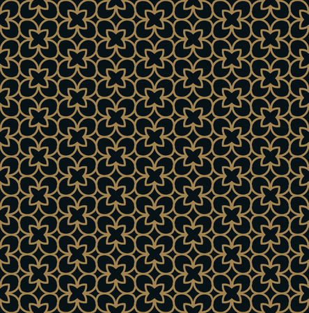 Intersecting curved elegant fine lines and scrolls forming abstract floral ornament. Seamless pattern for background, wallpaper, textile printing, packaging, wrapper, etc. Illustration
