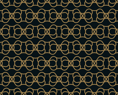 Intersecting curved elegant fine lines and scrolls forming abstract floral ornament. Seamless pattern for background, wallpaper, textile printing, packaging, wrapper, etc. Stok Fotoğraf - 101760689