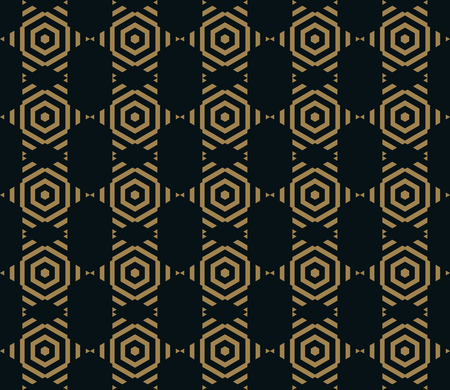Vector seamless pattern. Modern stylish texture. Repeating Trendy geometric tiles with hexagon line.