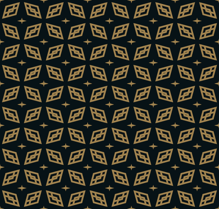abstract seamless ornament pattern vector illustration woth gold color