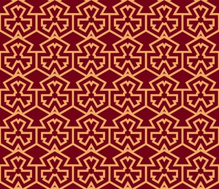 Vector seamless pattern. Modern stylish texture. Geometric striped ornament. luxury linear pattern  イラスト・ベクター素材