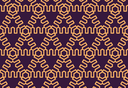Luxury Geometric Pattern. Vector seamless pattern. Modern linear stylish texture. Geometric striped ornament.