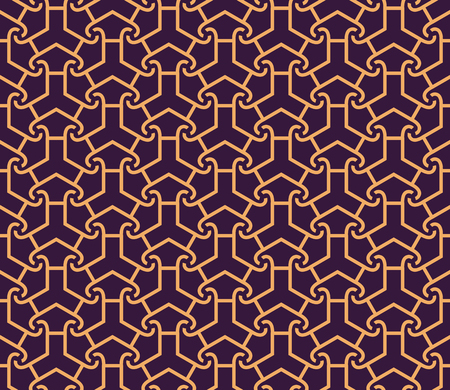 Vector seamless pattern. Modern stylish abstract texture. Repeating geometric linear tiles pattern background 写真素材 - 101987013