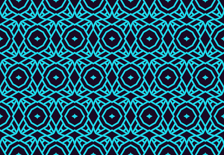 Seamless pattern. Ornament of lines and curls. Linear abstract background. 版權商用圖片 - 101987030