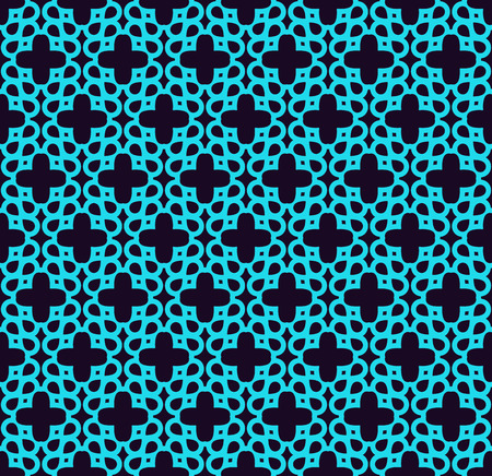 Seamless pattern. Ornament of lines and curls. Linear abstract background. Foto de archivo - 101987069