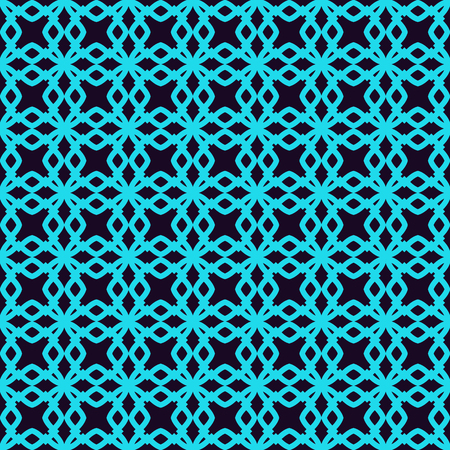 Seamless pattern. Ornament of lines and curls. Linear abstract background. Banque d'images - 101987091