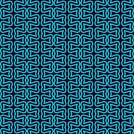 Seamless pattern. Ornament of lines and curls. Linear abstract background. Banque d'images - 101987164