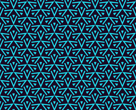Seamless pattern. Ornament geometric. Linear abstract background. Banque d'images - 101987237