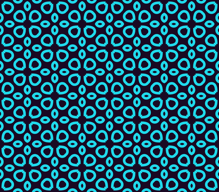 Seamless pattern. Ornament of lines and curls. Linear abstract background.