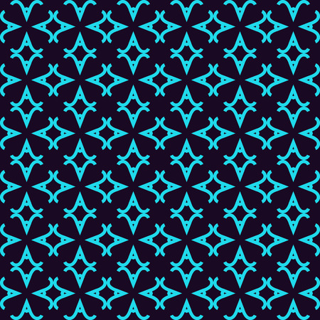 Seamless pattern. Ornament of lines and curls. Linear abstract background. Banque d'images - 101987417