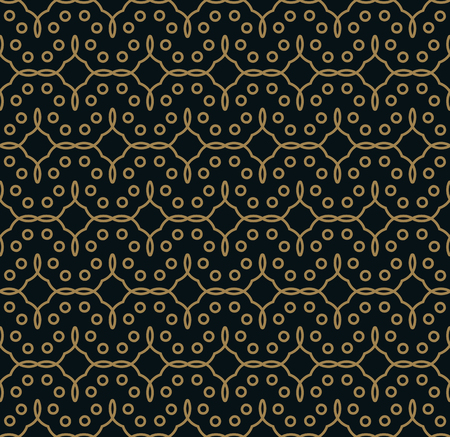 Seamless pattern. Graphic lines ornament. Floral stylish background.