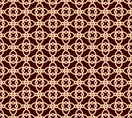 Seamless linear pattern with elegant curved lines and scrolls ornamental wallpaper.