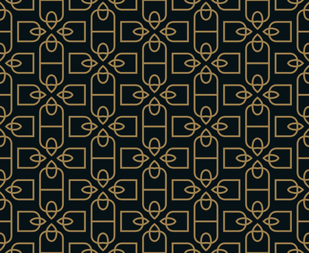 Seamless pattern. Graphic lines ornament. Floral stylish background. Stock fotó - 102519960