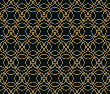 Seamless pattern. Graphic lines ornament. Floral stylish background. Foto de archivo - 103186126