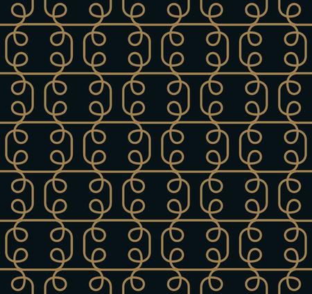Seamless pattern. Graphic lines ornament. Floral stylish background. Foto de archivo - 103186196