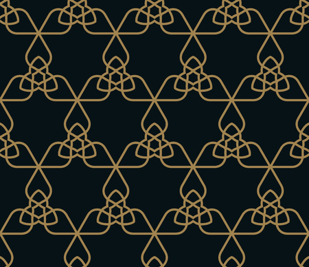 Vector seamless pattern. Modern stylish texture. Repeating geometric tiles from striped triangle elements Illustration