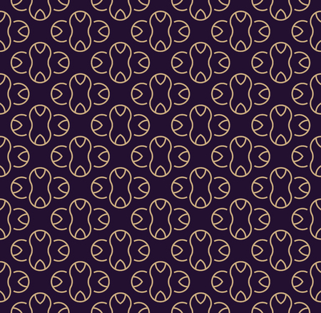 Vector seamless pattern. Modern stylish texture. Geometric linear ornament. Ilustrace