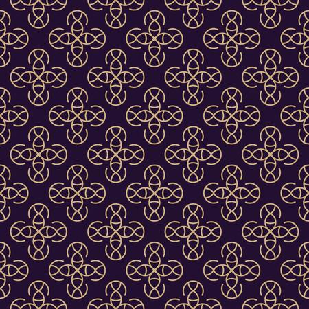 Vector seamless pattern. Modern stylish texture. Geometric linear ornament. Ilustração