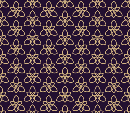 Vector seamless pattern. Modern stylish texture. Geometric linear ornament. Banco de Imagens - 102348484