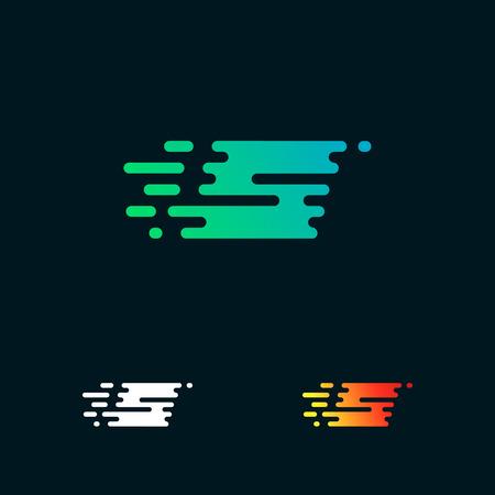 letter S modern speed shapes logo design vector Illustration